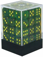 Borealis Maple Green and Yellow 12mm d6 Dice Block - CHX27965