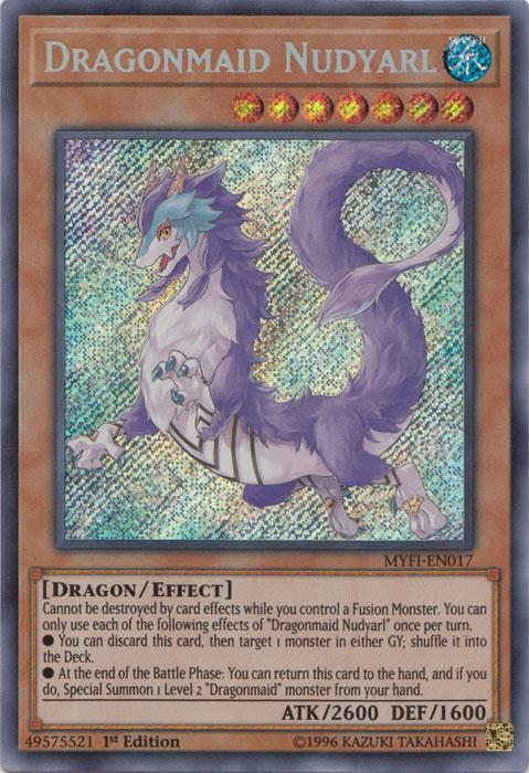 Dragonmaid Nudyarl - MYFI-EN017 - Secret Rare - 1st Edition