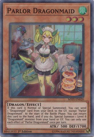 Parlor Dragonmaid - MYFI-EN020 - Super Rare - 1st Edition