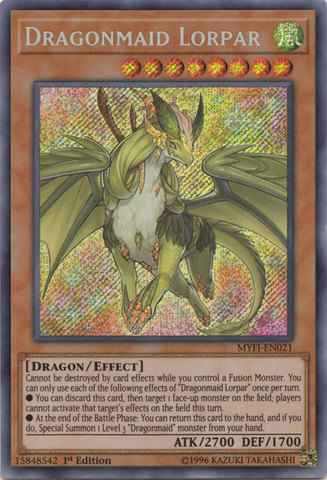 Dragonmaid Lorpar - MYFI-EN021 - Secret Rare - 1st Edition