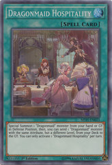 Dragonmaid Hospitality - MYFI-EN023 - Super Rare - 1st Edition on Channel Fireball