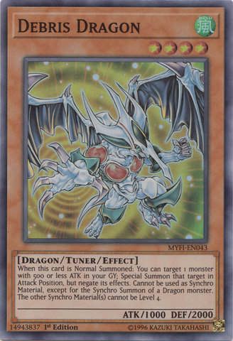 Debris Dragon - MYFI-EN043 - Super Rare - 1st Edition