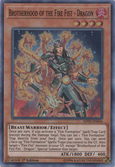 Brotherhood of the Fire Fist - Dragon - MYFI-EN044 - Super Rare - 1st Edition on Channel Fireball