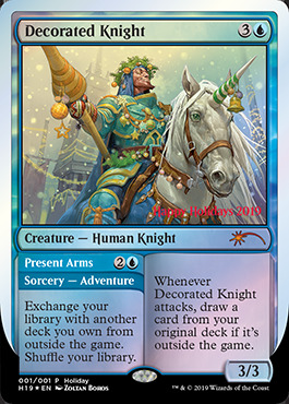 Decorated Knight // Present Arms - Foil