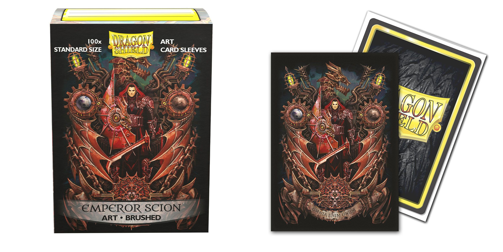 Dragon Shield Sleeves: Emperor Scion Coat-of-Arms Brushed Art (Box of 100)