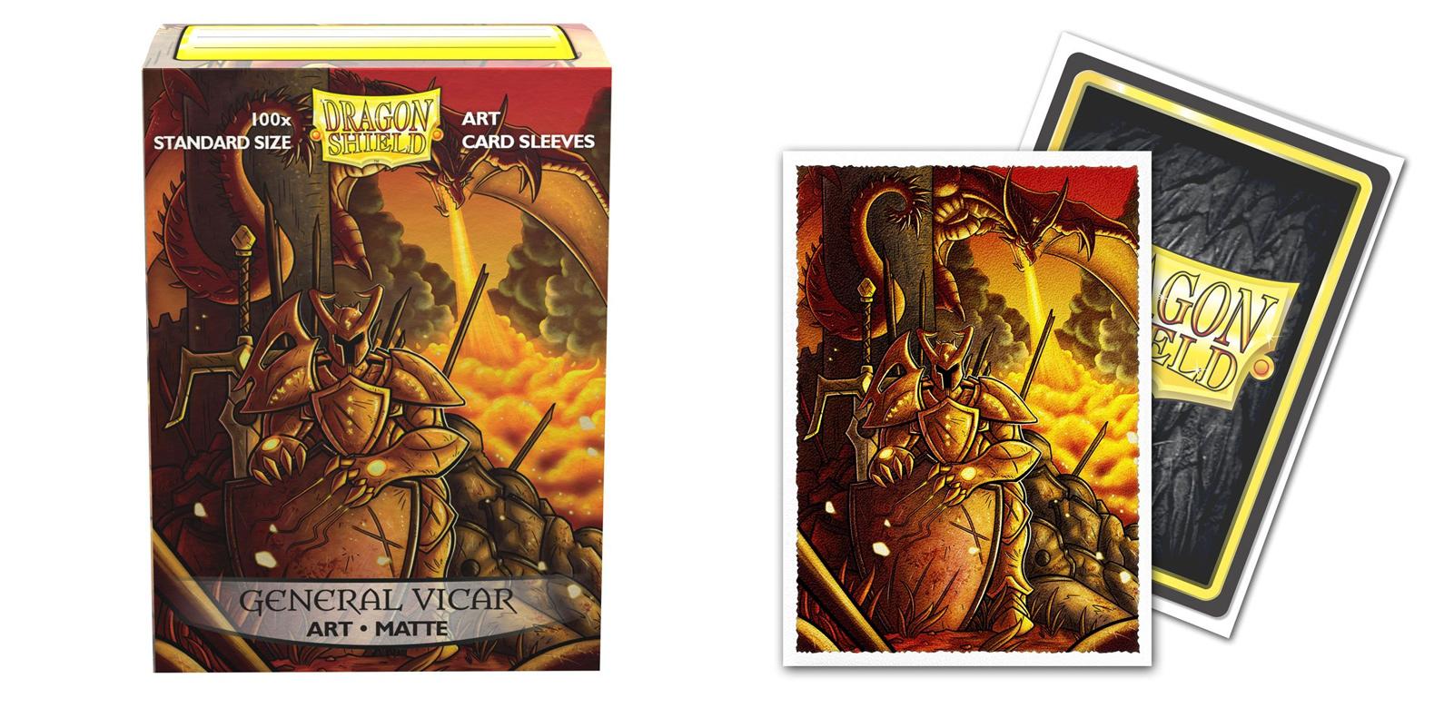 Dragon Shield Sleeves: General Vicar Portrait Matte Art (Box of 100)