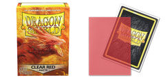 Dragon Shield Sleeves: Clear Red Matte (Box of 100)