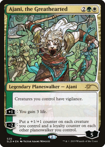 Ajani, the Greathearted - Foil - Stained Glass