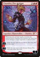 Chandra, Fire Artisan - Foil - Stained Glass