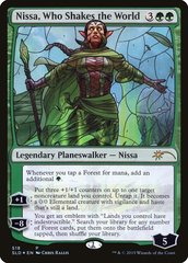 Nissa, Who Shakes the World - Foil - Stained Glass