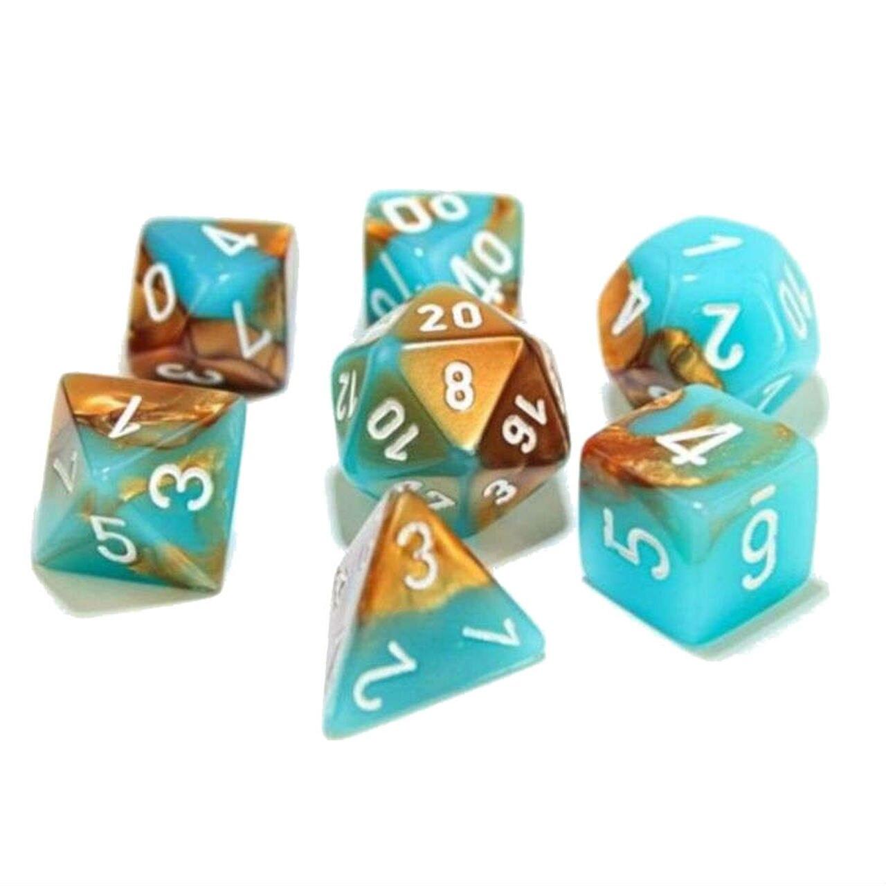 7-Die Set: Gemini Copper-Turquoise/White with Luminary - CHX30019
