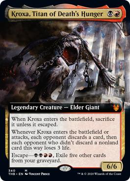 Kroxa, Titan of Deaths Hunger - Extended Art