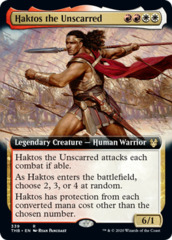 Haktos the Unscarred (Extended Art) - Foil
