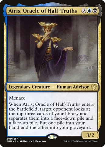 Atris, Oracle of Half-Truths - Foil - Promo Pack