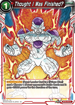 Thought I Was Finished? - BT9-019 - C - Foil