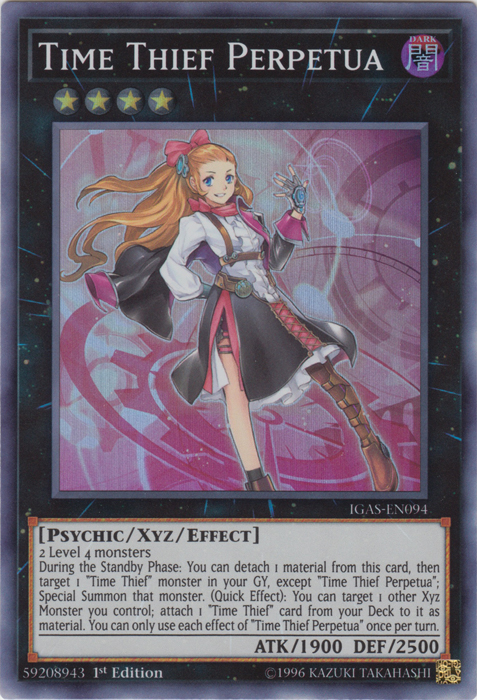 Time Thief Perpetua - IGAS-EN094 - Starlight Rare - 1st Edition
