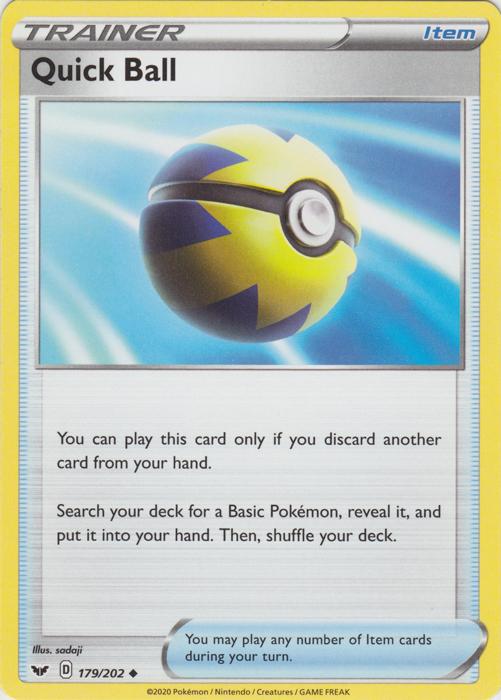 Quick Ball - 179/202 - Uncommon