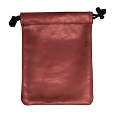 Suede Collection Treasure Nest Ruby Red Dice Accessories Bag