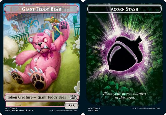 Giant Teddy Bear Token // Acorn Stash Token