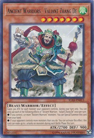 Ancient Warriors - Valiant Zhang De - IGAS-EN013 - Rare - Unlimited Edition