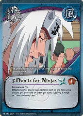 3 Don'ts for Ninjas - M-187 - Common - Unlimited Edition