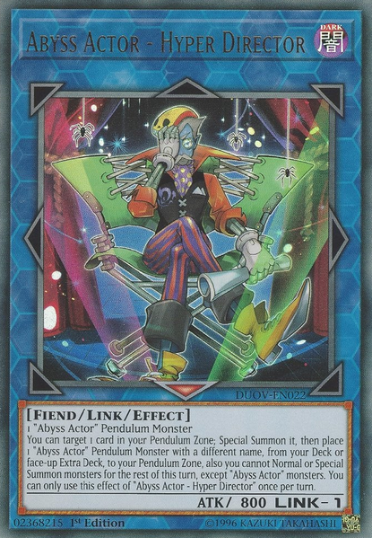 Abyss Actor - Hyper Director - DUOV-EN022 - Ultra Rare - 1st Edition