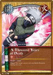 A Thousand Years of Death - J-US009 - Common - 1st Edition - Wavy Foil