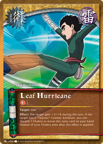 Leaf Hurricane - J-US006 - Common - 1st Edition - Diamond Foil