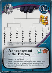Announcement of the Pairing - M-US047 - Rare - Unlimited Edition - Foil