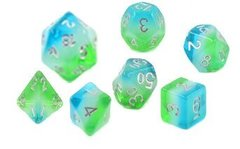 Dice Set - Blue Hawaiian