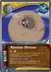 Absolute Defense - J-414 - Uncommon - 1st Edition - Foil