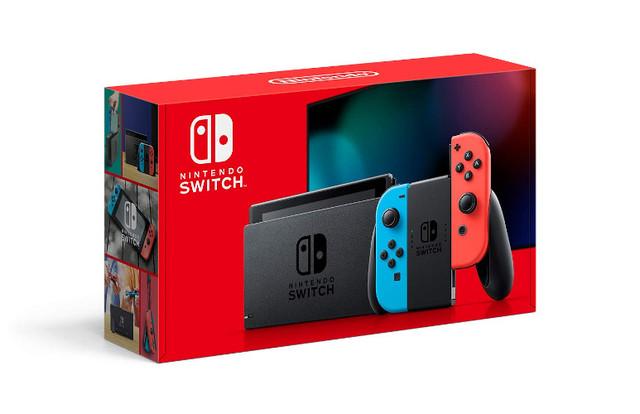 Nintendo Switch Console V2 - Red & Blue Joy-Con