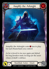 Amplify the Arknight (Blue) - Rainbow Foil - 1st Edition