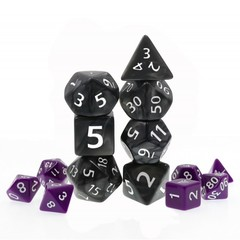 HD Polyhedral 7 Dice Set Black Giant Pearl
