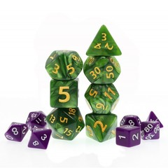 HD Polyhedral 7 Dice Set Green Giant Pearl