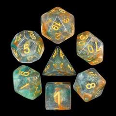HD Polyhedral 7 Dice Set Luminous Koi