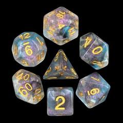 HD Polyhedral 7 Dice Set Luminous Shade
