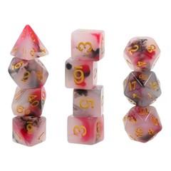 HD Polyhedral 11 Dice Set (Black+Red) Jade dice set