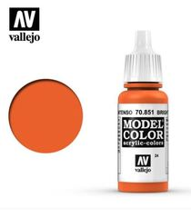 VAL70851 Vallejo Model Color Bright Orange 17ml (024)