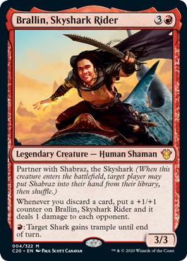 Brallin, Skyshark Rider - Foil