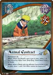 Animal Contract - M-687 - Uncommon - 1st Edition - Foil