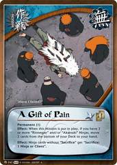 A Gift of Pain - M-747 - Uncommon - 1st Edition - Foil
