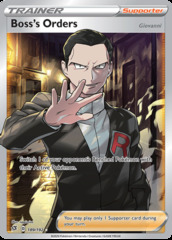 Boss's Orders - 189/192 - Full Art Ultra Rare