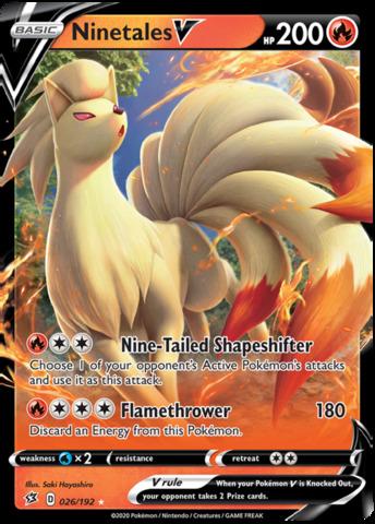 Ninetales V - 026/192 - Ultra Rare