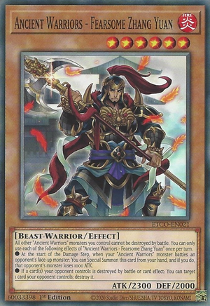 Ancient Warriors - Fearsome Zhang Yuan - ETCO-EN021 - Common - 1st Edition