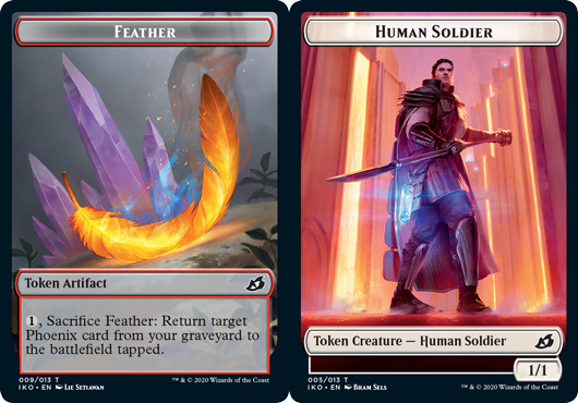 Feather Token // Human Soldier Token (005) - Foil