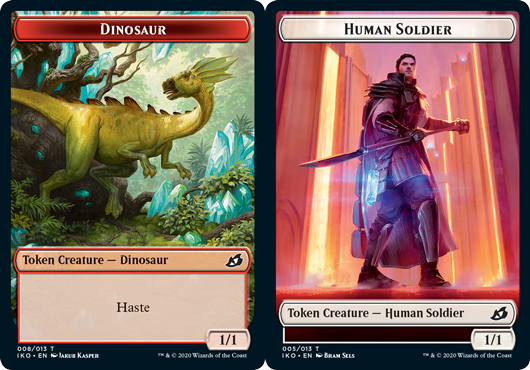 Dinosaur Token // Human Soldier Token (005) - Foil