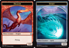Dragon Token // Spirit Token -