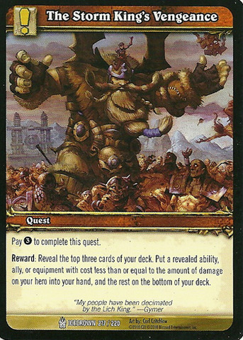 The Storm King's Vengeance - Card Game Singles » Assorted