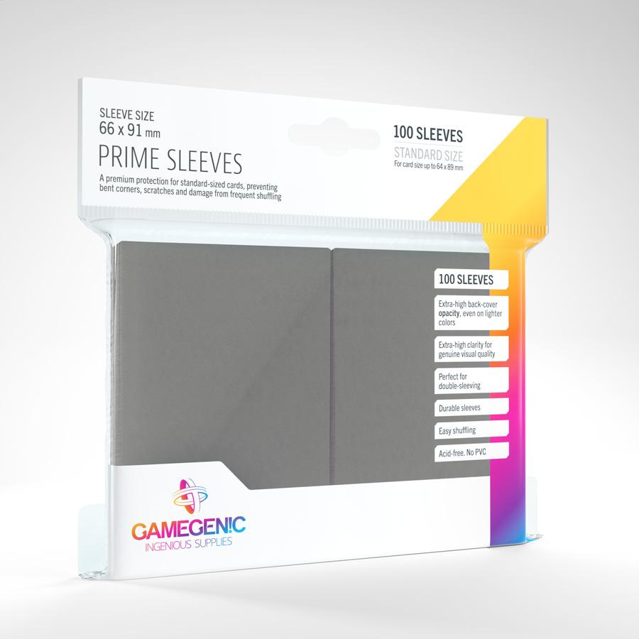 Gamegenic - Prime Sleeves - Dark gray (100)